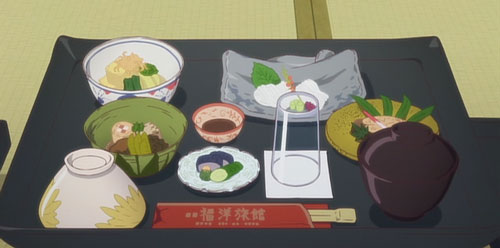 花咲くいろは第15話の福洋旅館の料理