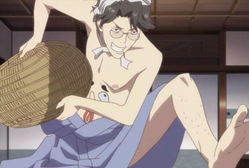 花咲くいろは第9話の次郎丸の裸踊り