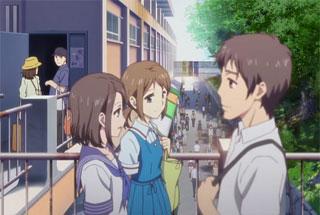花咲くいろは第20話の「true teras」の制服女子高生