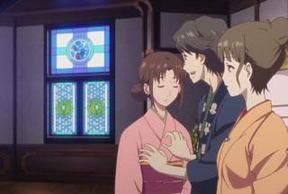 花咲くいろは第23話の巴、次郎丸、菜子