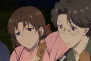 花咲くいろは第26話の巴さんと次郎丸