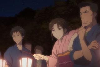花咲くいろは第26話の巴さんと蓮さん、徹