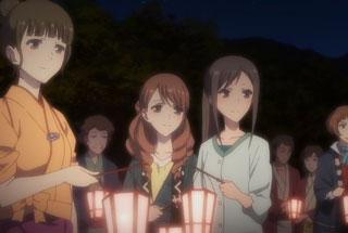 花咲くいろは第26話の菜子、結名、みんち、崇子