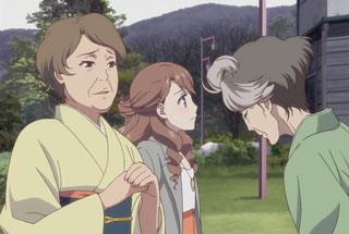 花咲くいろは第26話のしげ子、結名、スイ