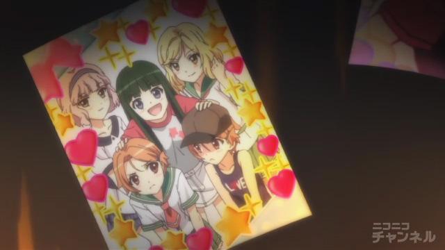 夏色キセキ6話の優香、凛子、紗季、夏海×2のプリクラ
