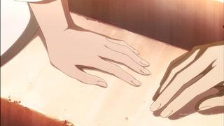 赤髪の白雪姫22話の白雪の手